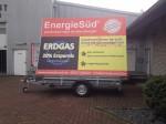 RentMe Energie Süd Werbeanhänger Planenwerbung
