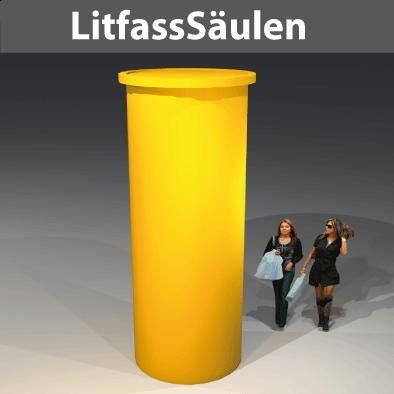 Citmax-Litfass-Säulen in diversen Durchmesser-Breiten D78 bis D218cm