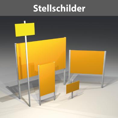 Citmax-Stellschilder freisteh. Kleinformat bis 2-stielige Großformat