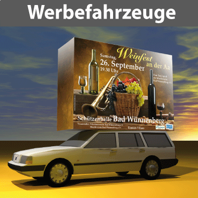 Citmax-Werbefahrzeuge mit Sonderaufbauten, m.Fahrer, o.selber fahren