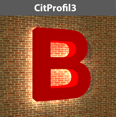 Profil3 Buchstaben, rückleuchtend mit Bautiefe, mit LED