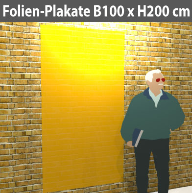 Folienplakate-100x200