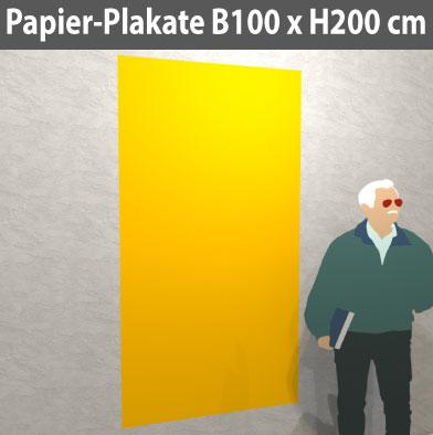Papier-Plakat-100x200