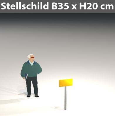 Stellschild-35x20