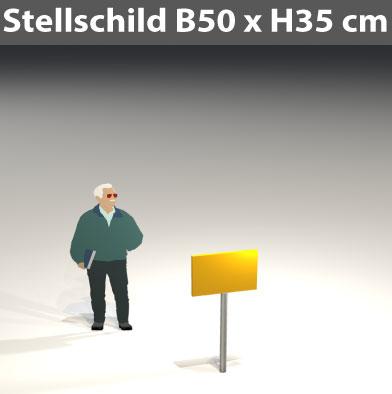 Stellschild-50x35
