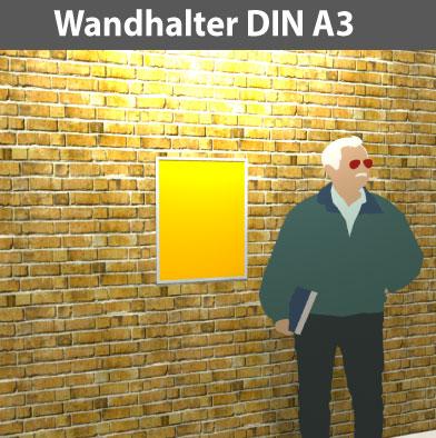 Wandhalter-DIN-A3