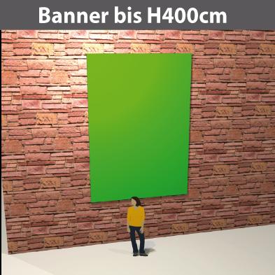 Banner bis H400cm, PVC-GewebeStoff, glatt, reissfest, stabil, geoest