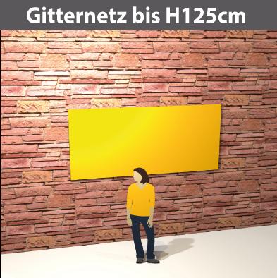 Gitternetz bis H125cm, geoest aus PVC-meshStoff, luftdurchlässig, reissfest, stabil
