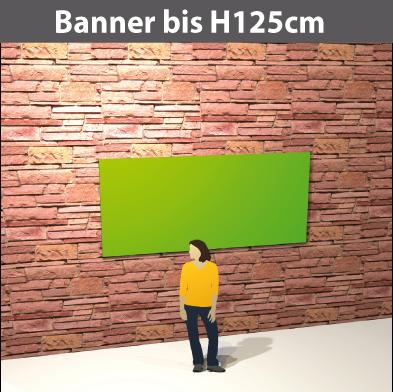 Banner bis H125cm, PVC-GewebeStoff, glatt, reissfest, stabil, geoest