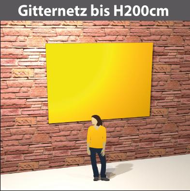 Gitternetz bis H200cm, geoest aus PVC-meshStoff, luftdurchlässig, reissfest, stabil
