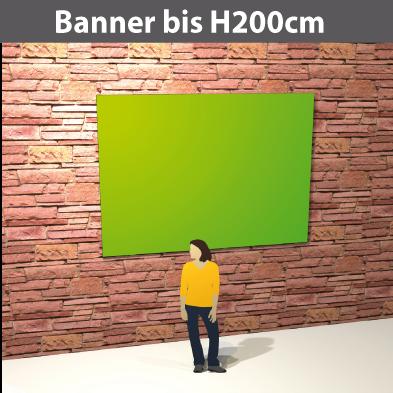Banner bis H200cm, PVC-GewebeStoff, glatt, reissfest, stabil, geoest