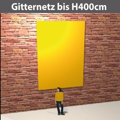Gitternetz bis H400cm, geoest aus PVC-meshStoff, luftdurchlässig, reissfest, stabil