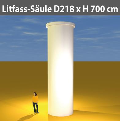 Litfass-Säulen D 218 cm