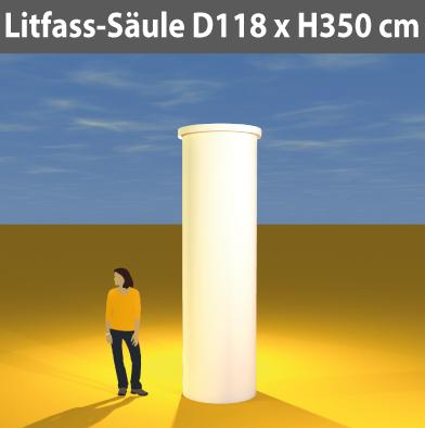 Litfass-Säulen D 118 cm
