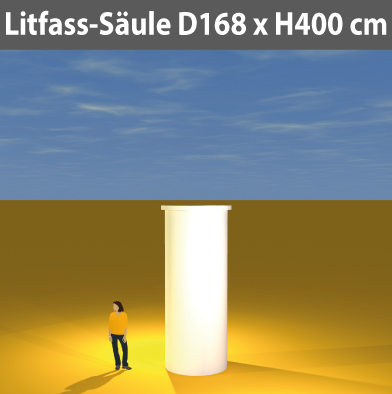 Litfass-Säulen D 168 cm