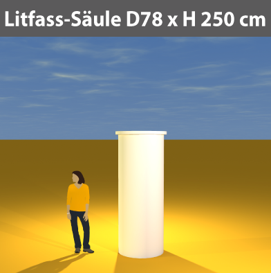 Litfass-Säulen D 78 cm
