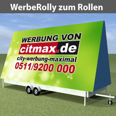 WerbeRolly zum Rollen, ohne StrassenZulass., für City/Wiese/Äcker