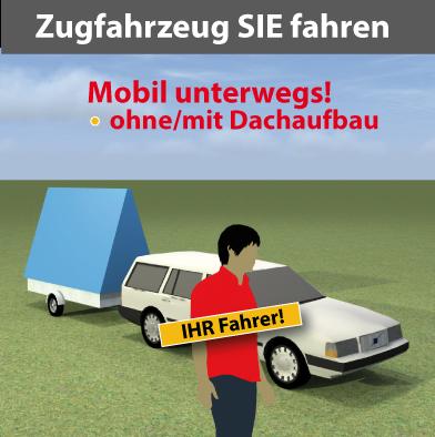 Zugfahrzeug für Werbeanhänger zum selber fahren