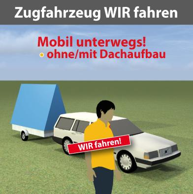 Zugfahrzeug für Werbeanhänger mit Citmax-Fahrer