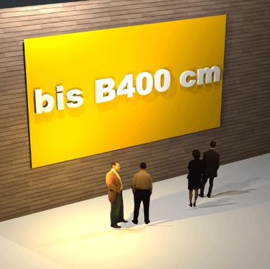 Schildbreite bis B 400