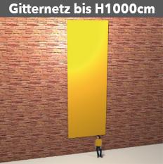 Gitternetz bis H1000cm, geoest aus PVC-meshStoff, luftdurchlässig, reissfest, stabil