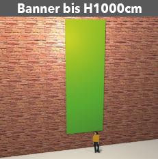 Banner bis H1000cm, PVC-GewebeStoff, glatt, reissfest, stabil, geoest