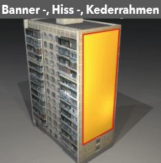 Citmax- Bannerrahmen, feststehend oder mit Keder, Hissanlagen