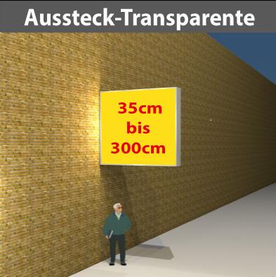 Aussteck-Leuchttransparente