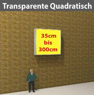 Wandtransparente Quadratisch