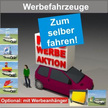 Werbefahrzeuge zum selber Fahren mit Dachbau