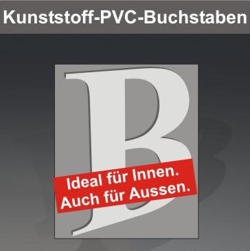 Kunststoff-PVC-Buchstaben, unbeleuchtet