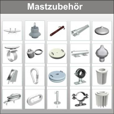 Fahnenmastzubehör, Ersatzteilversand, Umbauteile