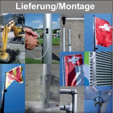 Fahnenmast - Lieferung, Montage- und Service, Wartung, Reparatur