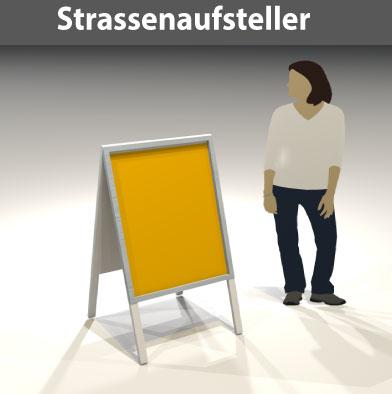 Strassenaufsteller für DIN-Plakate