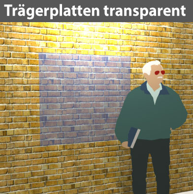 Trägerplatte 3/5/8mm Acryl transparent