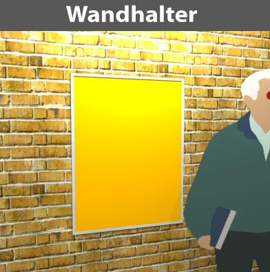 Wandhalter für DIN-Plakate