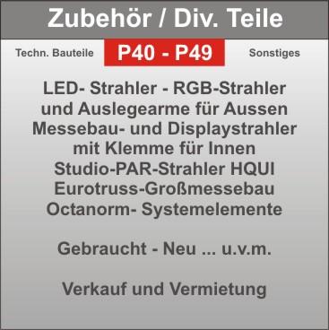 Projekt - Zubehör - Auslegearme - Strahler - Montagematerial - diverses