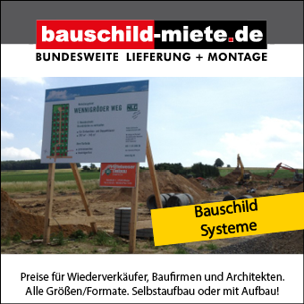 bauschild-miete